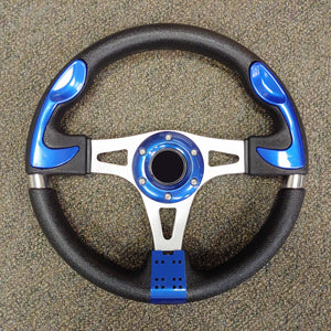 Blue Custom F1 Golf Cart Steering Wheel with Adapter