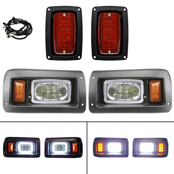 LED Adjustable Light Kit w/ Halo Daytime Running Lights , Club Car DS 93+