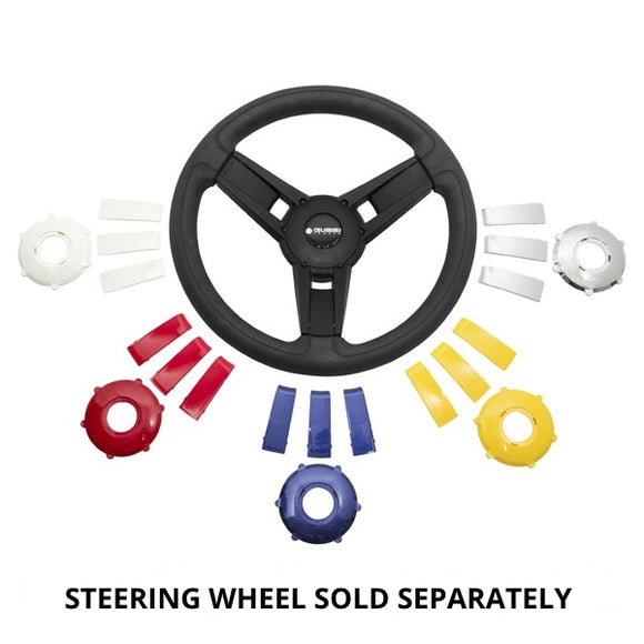 Center Cap & Spoke Set For Gussi Giazza Steering Wheel