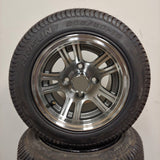 10in. Low Pro 205/50-10 on Excalibur Gunmetal/Silver Wheel - Set of 4