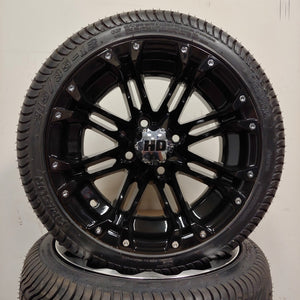 12in. Low Pro 215/35-12 on HD314 Gloss Black Wheel - Set of 4