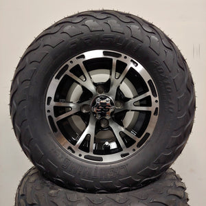 10in. LIGHTNING Off Road 20X10X10 on Excalibur Series 63 Black w/Machined Face - Set of 4