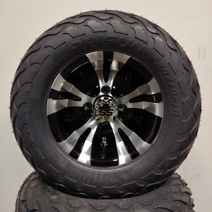 10in. LIGHTNING Off Road 20X10X10 on Excalibur Series 74 Black w/Machined Face - Set of 4