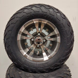 10in. LIGHTNING Off Road 20X10X10 on Excalibur Series 74 Gunmetal/Machined Face - Set of 4
