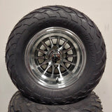 10in. LIGHTNING Off Road 20X10X10 on Excalibur Series 78 Black w/Machined Face - Set of 4