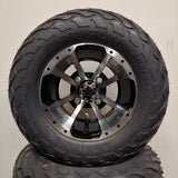 10in. LIGHTNING Off Road 20X10X10 on Excalibur Series 79 Black/Machined Face - Set of 4