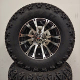 10in. Off Road 20X10X10 on Excalibur Series 56 Black w/ Machined Face - Set of 4