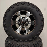 10in. Off Road 20X10X10 on Excalibur Series 57 Black w/ Machined Face - Set of 4