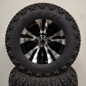 10in. Off Road 20X10X10 on Excalibur Series 74 Black w/ Machined Face - Set of 4