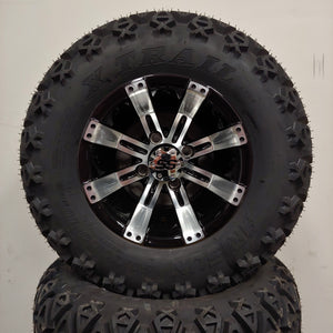 10in. Off Road 20X10X10 on Excalibur Series 75 Black w/ Machined Face - Set of 4