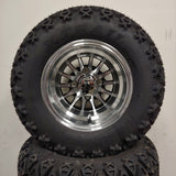 10in. Off Road 20X10X10 on Excalibur Series 78 Black/Machined Face - Set of 4