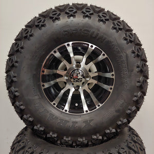 10in. Off Road 22 X 11-10 on Excalibur Series 56 Black w/Machined Face Wheel - Set of 4