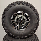10in. Off Road 22 X 11-10 on Excalibur Series 63 Black w/Machined Face Wheel - Set of 4