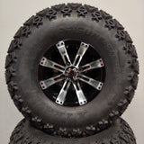 10in. Off Road 22 X 11-10 on Excalibur Series 75 Black/Machined Face - Set of 4