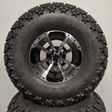 10in. Off Road 22 X 11-10 on Excalibur Series 79 Black w/Machined Face Wheel - Set of 4