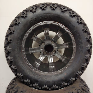 12in. Off Road 23x10.5x12 on Excalibur Fully Painted Gunmetal Wheel - Set of 4