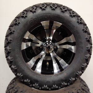 12in. Off Road 23x10.5x12 on Excalibur Series 74 Black/Machined Face Wheel - Set of 4