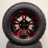 12in. LIGHTNING Off Road 23x10-12 on Excalibur Series 74 Black/Red Wheel - Set of 4