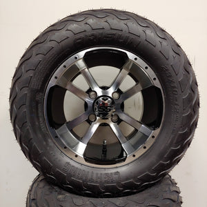 12in. LIGHTNING Off Road 23x10-12 on Excalibur Series 79 Black w/ Machined Face Wheel - Set of 4