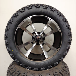 14in. Off Road 23x10x14 on Excalibur Series 79 Black w/ Machined Face Wheel - Set of 4