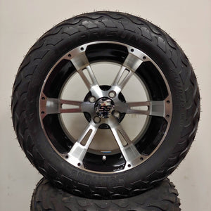 14in. LIGHTNING Off Road 23x10x14 on Excalibur Series 57 Black w/ Machined Face Wheel - Set of 4
