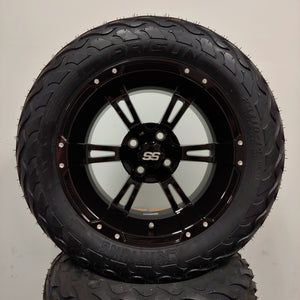 14in. LIGHTNING Off Road 23x10x14 on Excalibur Series 57 Gloss Black Wheel - Set of 4