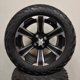 14in. LIGHTNING Off Road 23x10x14 on SS312 Black Silver Wheel - Set of 4