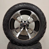 14in. LIGHTNING Off Road 23x10x14 on Excalibur Series 79 Black w/ Machined Face Wheel - Set of 4