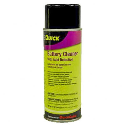 QuickCable Battery Cleaner Spray w/ Acid Detection 13.7 oz (Each)