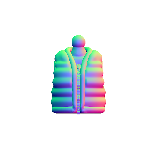 3D File- Bubble Vest