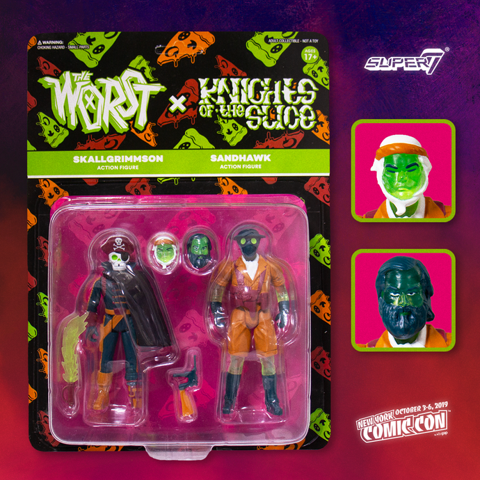 Super 7 x Toy Pizza:  Worst x Knights of the Slice 2 pack Vol. 2