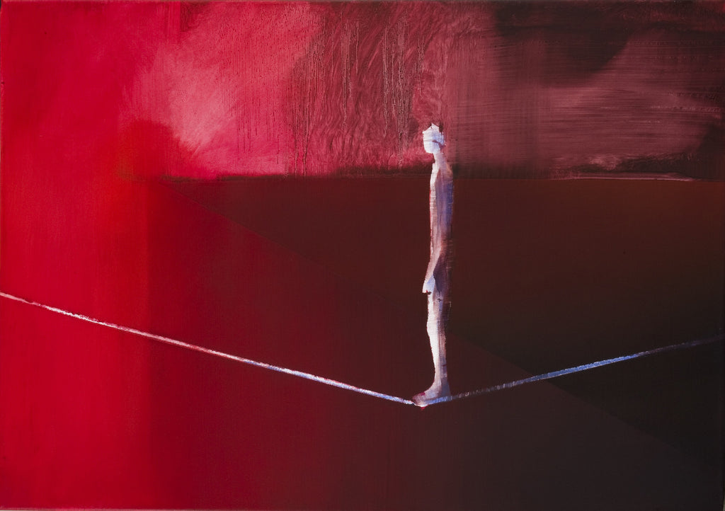 Rope Dancer in Red Landscape