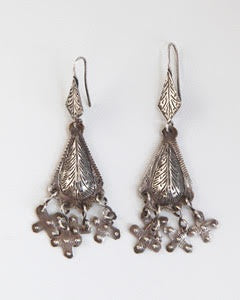 Berber Old Silver Dangling Earrings