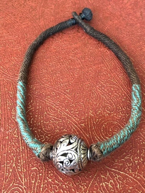 Moroccan Choker with Hollow Silver Filagree