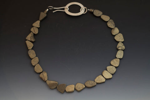 Caroline Viene Pyrite and Sterling Choker