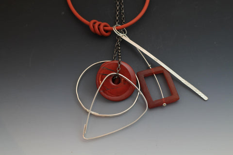 Caroline Viene Necklace in Orange