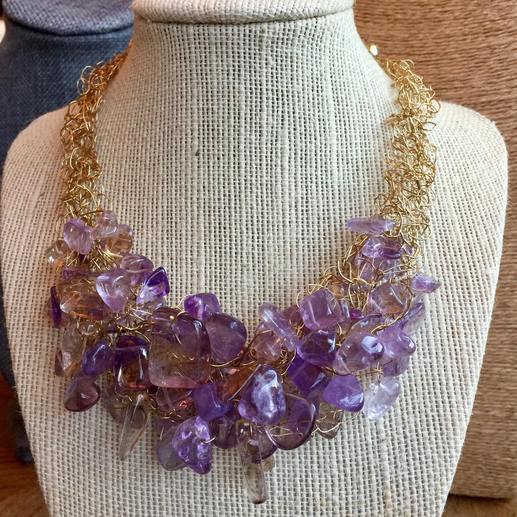 House of Katharine Amethyst Quartz Necklace