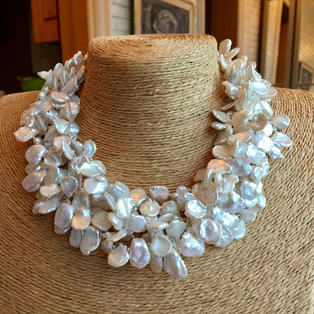House of Katharine Freshwater Keshi Pearl Statement Necklace