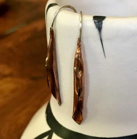 Maura Cartwright Calla Lilly Earrings in Copper