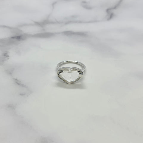 クリスタル(silver):Ms.heart ring