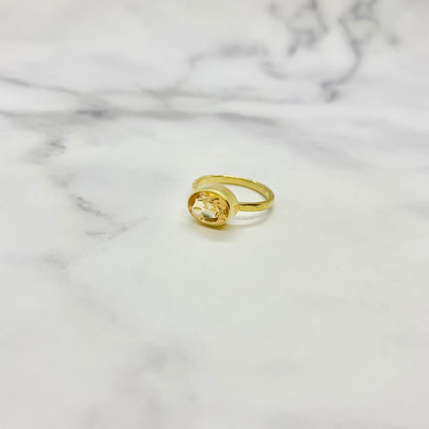 (ディープシトリン/gold) hammer horizon ring