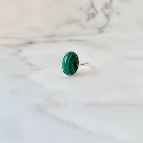 マラカイト(silver) innocent  candy oval ring