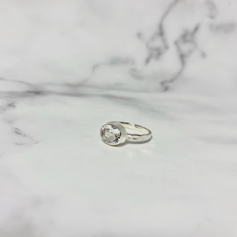 クリスタル(silver) hammer horizon ring