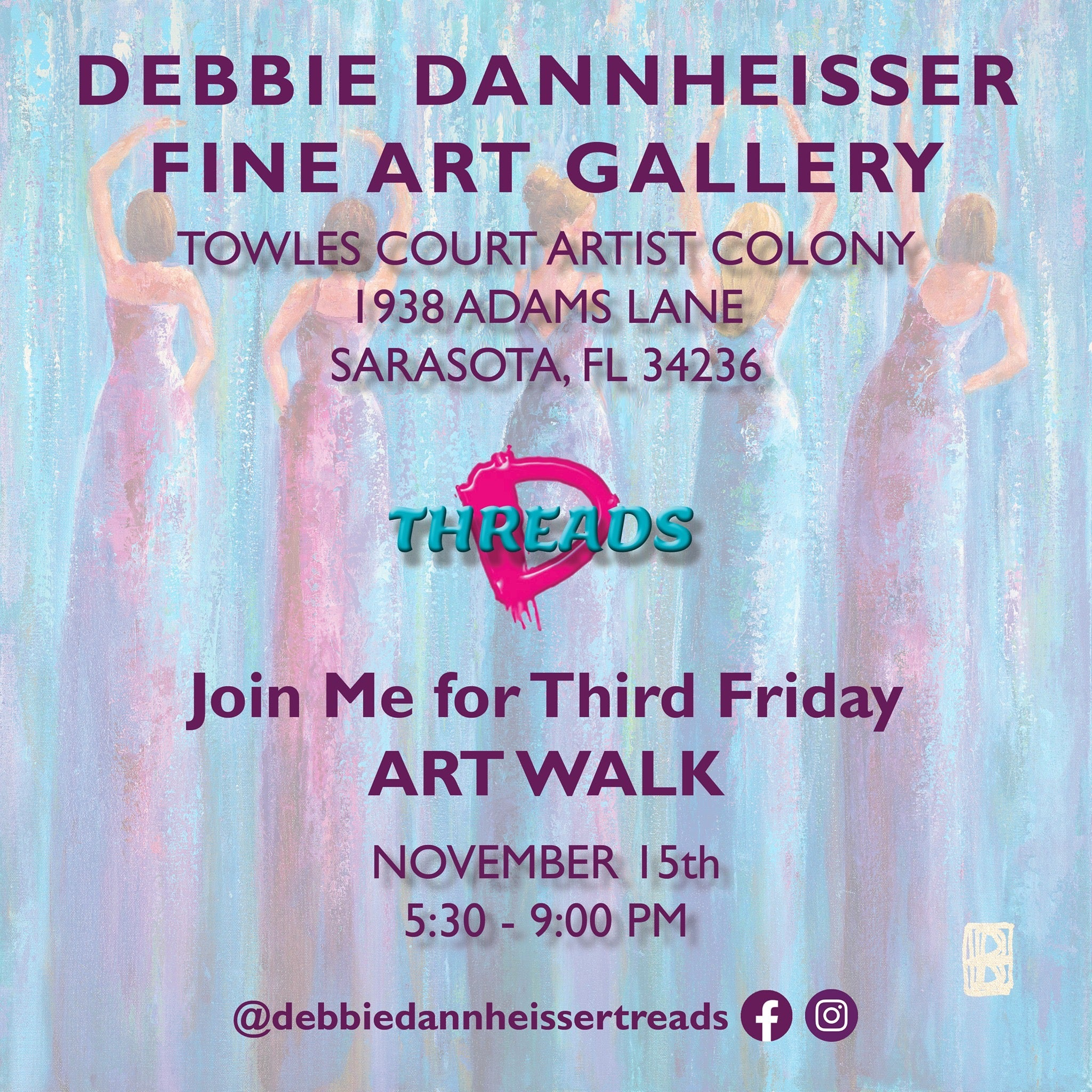 Join Me for Third Friday ART WALK November 15th!