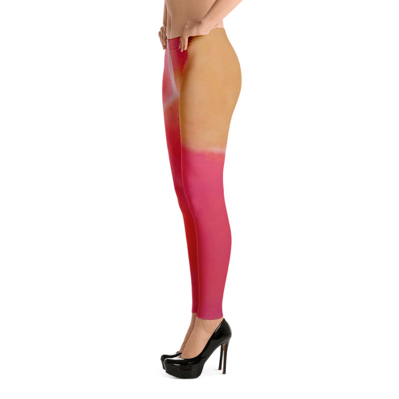 Pink and Coral Leggings Low Side