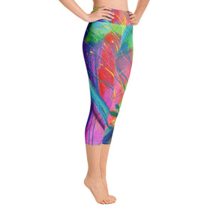 Heart of Color Art Athleisure Capri Right