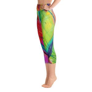 Heart of Color Art Athleisure Capri Left
