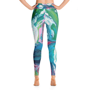Fluid Pink & Green AA Leggings Back NEW 9.24.18