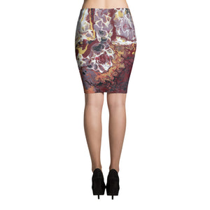 Fluid Nole Love Pencil SKirt Back