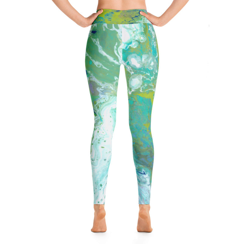 Fluid Lime Leggings Back